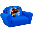 Iron Man Sleepover Sofa, Kids Upholstered Chairs | Personalized Upholstered Chairs | ABaby.com