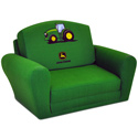 John Deere Sleepover Sofa, Kids Upholstered Chairs | Personalized Upholstered Chairs | ABaby.com