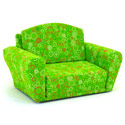 Lime Circles Sleepover Sofa, Kids Upholstered Chairs | Personalized Upholstered Chairs | ABaby.com