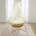 Beautiful Basket Bassinet, Baby Bassinet Bedding sets, Bassinet Skirts, Bassinet Liners, and Hoods