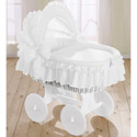 Little Bride Bassinet, Baby Bassinet Bedding sets, Bassinet Skirts, Bassinet Liners, and Hoods