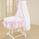 Prim Little Lady Bassinet, Baby Bassinet Bedding sets, Bassinet Skirts, Bassinet Liners, and Hoods
