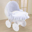 Prince Charming Bassinet, Baby Bassinet Bedding sets, Bassinet Skirts, Bassinet Liners, and Hoods