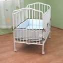 Compact Folding Metal Crib, Commercial Daycare and Pre-School