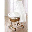 Precious Wonders Bassinet, Wicker Bassinets | Wicker Baby Bassinets | ABaby.com