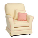 Camelot Cottage Stationary Chair, Upholstered Glider Rocker | ABaby.com