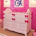 Fresh Hot Pink Accent Crib Bedding , Baby Girl Crib Bedding | Girl Crib Bedding Sets | ABaby.com
