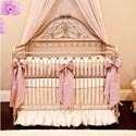 Orchid Lilac Silk Crib Bedding Set, Baby Girl Crib Bedding | Girl Crib Bedding Sets | ABaby.com