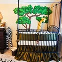 Olive Green Taffeta Crib Bedding Set, African Safari Themed Bedding | Baby Bedding | ABaby.com