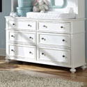 Maddy 6 Drawer Dresser, Children's Dressers | Kids | Toddler | ABaby.Com