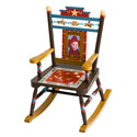 Kid's Wild West Rocker, Wild West, Western, Cowboy Themed Furniture, Decor For Childrens Rooms and Baby's Nursery.