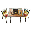 Wild West Table and Chairs Set, Wild West, Western, Cowboy Themed Furniture, Decor For Childrens Rooms and Baby's Nursery.