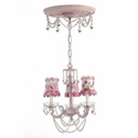 Butterfly and Daisy Crystal Chandelier, Nursery Lighting | Kids Floor Lamps | ABaby.com