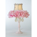 Pink Floral Boudoir Lamp, Baby Nursery Lamps | Childrens Floor Lamps | ABaby.com