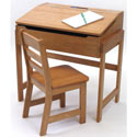 Slanted Top Desk and Chair, Children Table And Chair Sets | Toddler Table And Chairs | ABaby.com