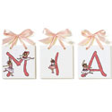 Lil' Ballerinas Name Tiles, Prima ballerina Themed Nursery | Girls ballerina Bedding | ABaby.com