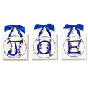 Lil' Baseballs Name Tiles, Boys Wall Letters | Kids Wall Letters For Nursery | ABaby.com
