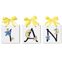Lil' Stars & Moons Name Tiles, Boys Wall Letters | Kids Wall Letters For Nursery | ABaby.com