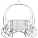 Fairytale Pumpkin Round Crib, Round Cribs for Babies | Circular Crib | Unique | Nursery
