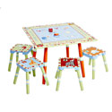 Alphabet Soup Table and Stool Set, ABC�s Themed Nursery | Alphabet Bedding | ABaby.com