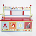 Alphabet Soup Toy Box Bench, Alphabets Themed Furniture | Baby Furniture | ABaby.com