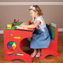 Artist Activity Desk Set, Children Table And Chair Sets | Toddler Table And Chairs | ABaby.com