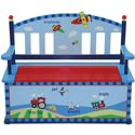 Gettin' Around Toy Box Bench, Airplane Themed Nursery | Airplane Bedding | ABaby.com