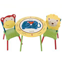 Jungle Jingle Table and Chair Set, Circus Fun Themed Nursery | Circus Fun Bedding | ABaby.com
