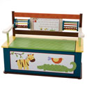 Jungle Jingle Toy Box Bench, African Safari Themed Nursery | African Safari Bedding | ABaby.com