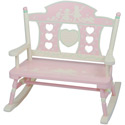 Rock-A-My-Baby Child's Double Bench Rocker, Kids Chairs | Personalized Kids Chairs | Comfy | ABaby.com