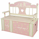 Rock-A-My-Baby Toy Box Bench, Kids Storage Bins | Personalized Kids Toy Boxes | ABaby.com