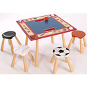 All Star Sports Table & 4 Stool Set, Sports Themed Nursery | Boys Sports Bedding | ABaby.com