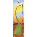 Long Neck Dinosaur Growth Chart, Dinosaurs Themed Nursery | Dinosaurs Bedding | ABaby.com
