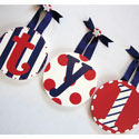 Tyler the Sailor Wall Letters, Nautical Themed Nursery | Nautical Bedding | ABaby.com
