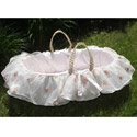 Belle Moses Basket, Baby Baskets For Girls | Girls Moses Baskets | ABaby.com