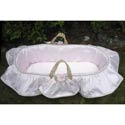 Sylvie Moses Basket, Baby Baskets For Girls | Girls Moses Baskets | ABaby.com