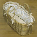Luxury Luxe Moses Basket, Moses Baskets With Stands | Baby Moses Baskets | ABaby.com