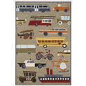 Transportation Concrete Rug, Kids Playroom Area Rugs | Bedroom Rugs | Carpet | aBaby.com