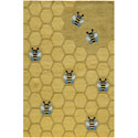 Honeycomb Rug, Frogs And Bugs Nursery Decor | Frogs And Bugs Wall Decals | ABaby.com