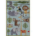 Safari Blue Rug, African Safari Themed Nursery | African Safari Bedding | ABaby.com