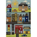 Town Scene Rug, Kids Playroom Area Rugs | Bedroom Rugs | Carpet | aBaby.com
