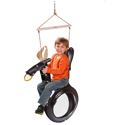 Bull Ride'n Tire Swing, Wild West, Western, Cowboy Themed Furniture, Decor For Childrens Rooms and Baby's Nursery.