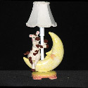 Cow Over Moon Lamp