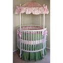 Audrey Round Crib Bedding, Bedding For Round Cribs | ABaby.com