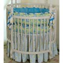 Cristophe Round Crib Bedding, Bedding For Round Cribs | ABaby.com