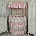 Princess and the Pea Round Crib Bedding, Bedding For Round Cribs | ABaby.com