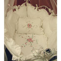 Rose Provence Cradle Bedding, Baby Cradle Bedding | Cradle Accessories | For Boys & Girls