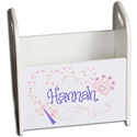 Personalized Princess Book Caddy, Prince & Princess Nursery Decor | Baby Themes | Bedding