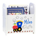 Personalized Train Book Caddy, Train And Cars Themed Nursery | Train Bedding | ABaby.com