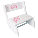 Personalized Ballet Flip Stool, Personalized Kids Step Stools | Step Stools for Toddlers | ABaby.com